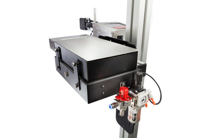 The Squid Ink CoPilot 256 hi-resolution industrial inkjet printer ink agitation system for coding and marking applications that require pigmented inks