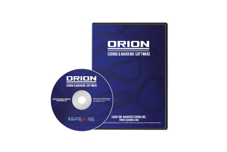 The Squid Ink Orion Coding and Marking Software allows users to create industrial inkjet message files using a powerful graphical interface