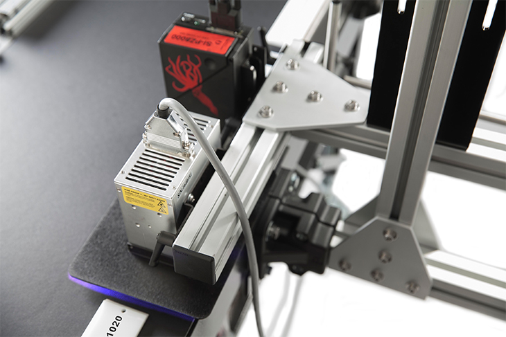 The Squid Ink UV LED Ink Curing System standard bracketry allows the illumination module to be mounted directly into your existing manufacturing line