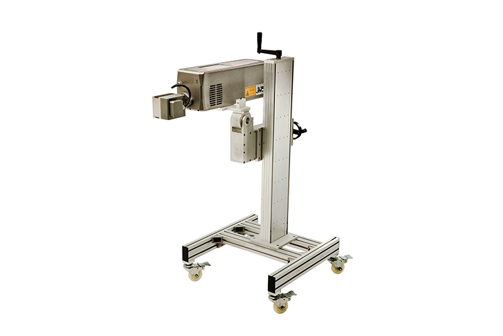 The Squid Ink SQ-Laser SQ-10 laser coding system heavy duty stand for multiple configurations