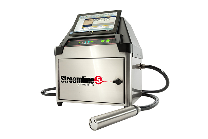 Squid Ink's Streamline 5 CIJ Small Character Printing System