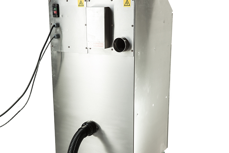 The Squid Ink SQ-LFX PVC Laser Fume Extraction System back connections and safety interlock