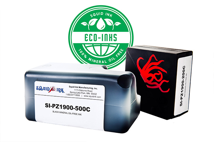Squid Ink Mineral Oil Free Inks 200ml and 500ml cartridges