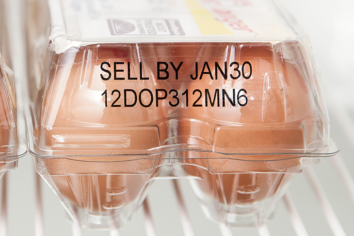 Squid Ink SI-PZ4200 on a clear PET egg carton
