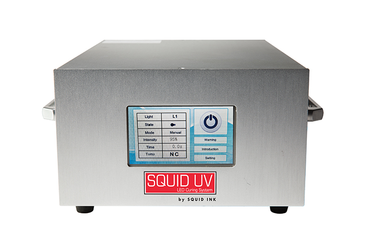 The Squid Ink UV LED Ink Curing System controller is easy-to-use