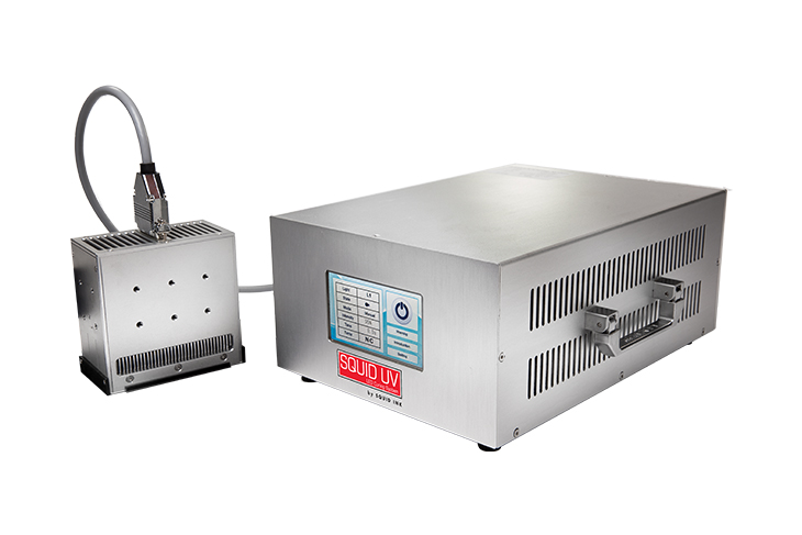 The Squid Ink 905 Series with Kwik Lok 872 or 893 automatic bag closure machine for bakery applications UV LED Curing system and CoPilot hi-resolution printer UV unit