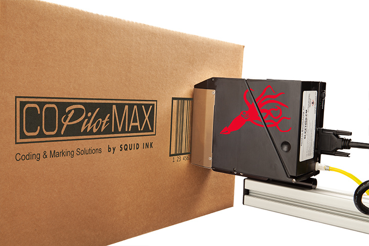 The Squid Ink CoPilot Max hi-resolution industrial inkjet printer for egg coding and marking applications