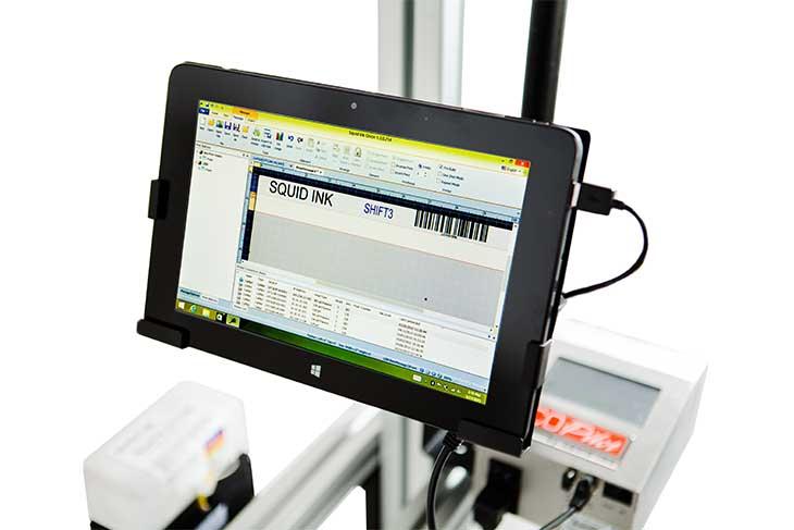 Squid Ink CoPilot Max hi-resolution industrial inkjet printer wireless tablet touchscreen controller