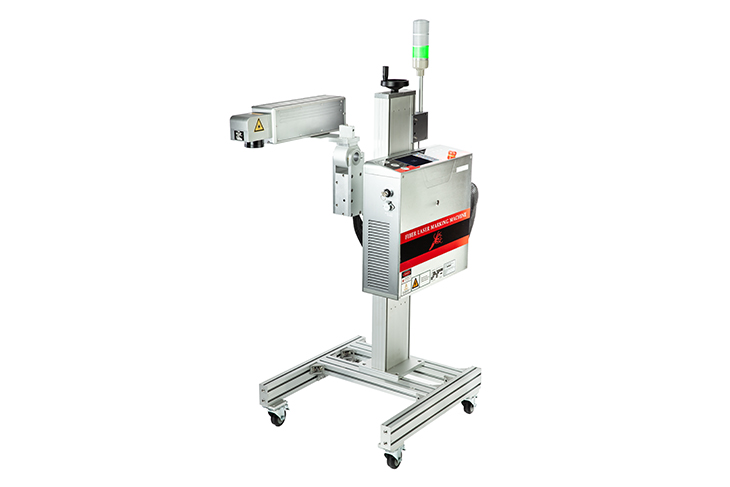 The Squid Ink SQ-50F Fiber laser coding system heavy duty stand for multiple configurations