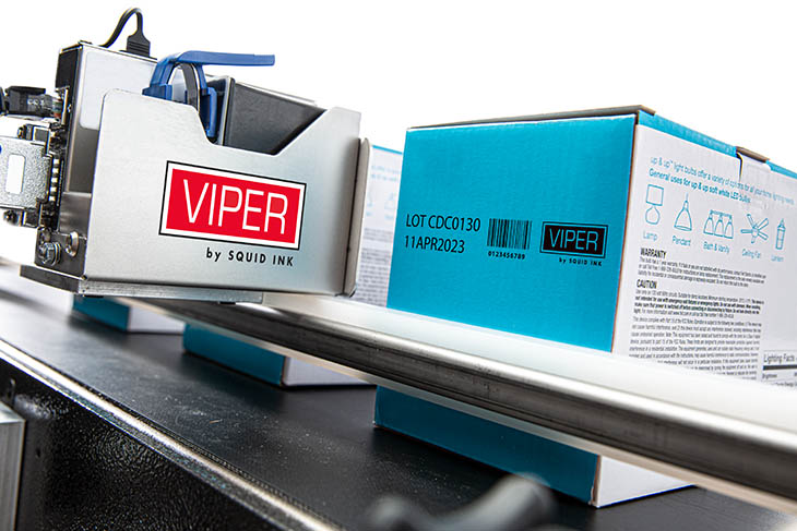 The Squid Ink Viper thermal inkjet printer for coding and marking applications